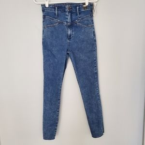 NWT Abercrombie ultra high rise super skinny ankle